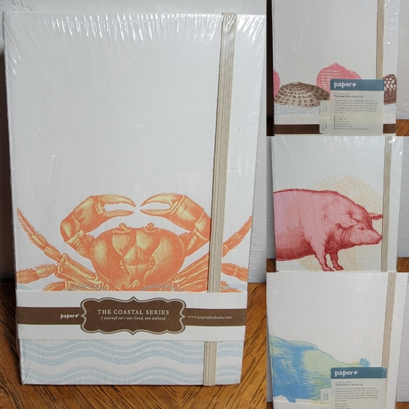 Four Journals, 2 Sets of 2 New Sea & Farm Themed